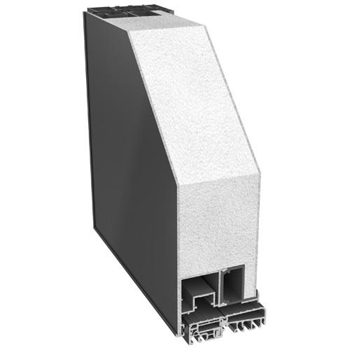 Imagen de la muestra de una puerta de aluminio de màxima Seguridad modelo Puerta Smart Ocultec 45 de fácil mantenimiento y distintos diseños y colores